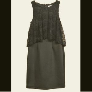 Emma & Michelle Black Sleeveless Lace top Dress